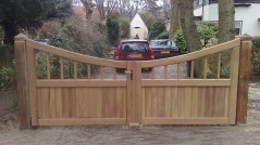 Dubbele poort Hout6